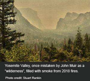 Yosemite filled with smoke in 2018 fire